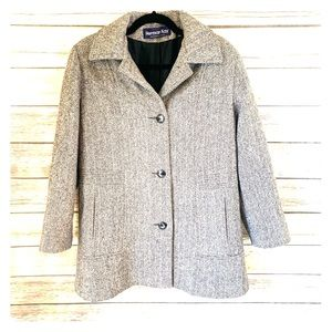 Hermon Kay Women's grey coat with buttons - size 8